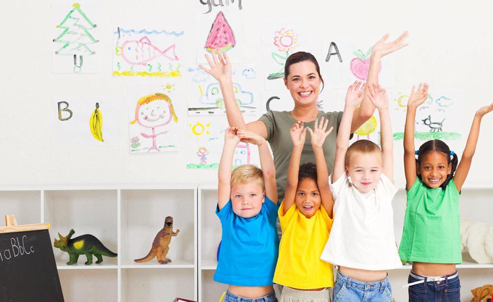 Cheerful preschool class